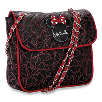 Hermosa Bolsa Cartero Minnie Mouse Disney Original Negra