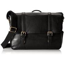 Bolsa Saffiano Leather En Cuero Fossil -negro