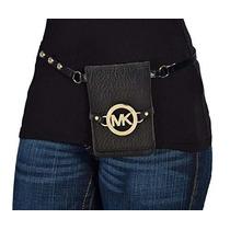 Bolsa Pequeño Mk Logo Cinturón Negro
