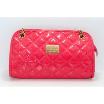 Bolsa Rosa Rectangular Y Costuras De Rombo B46