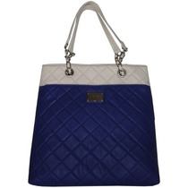 Bolsa Nine West Large Quilted Tote Ifs Azul