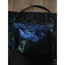 Bolsa Coach Signature Carly Hobo Piel Negra Original Remato