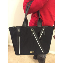Bolsa De Mano Nine West Negro Zipper 100% Original Nueva