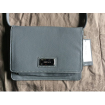 Bolsa Cross Body Mariconera Nine West Gris Tipo Piel