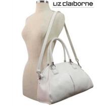 Bolsa Liz Claiborne Blanca Crossbody Piel Faux Convertible !