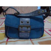 Bolsa Chenson 100% Original Azul Tipo Gamuza Mediana