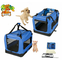 Bolsa Transportadora Moderna Mascota Gato Perro Maleta Azul