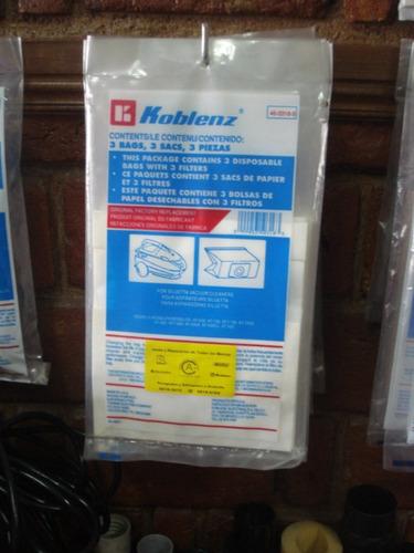 Bolsas y filtros para aspiradoras