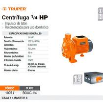 Bomba Electrica Para Agua Centrifuga 1/4 Hp