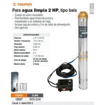 Bomba Sumergible De Agua Limpia De 2 Hp Metalica