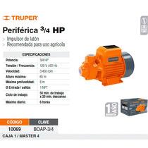 Bomba Electrica Para Agua Periferica 3/4 Hp