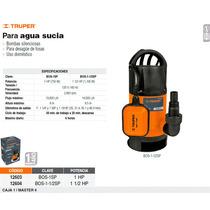 Bomba Sumergible De 1-1/2 Hp Para Agua Sucia