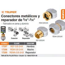 Conector Metalico Reparador Macho/hembra 5/8 -3/4