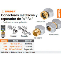 Conector Metalico Reparador Macho 5/8 -3/4