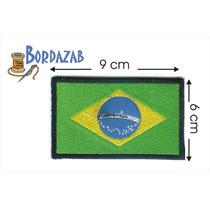 Escudo Parche Bordado Banderas De Brasil