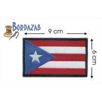 Escudo Parche Bordado Banderas De Puerto Rico