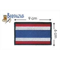Escudo Parche Bordado Banderas De Tailandia