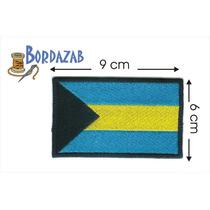 Escudo Parche Bordado Banderas De Bahamas