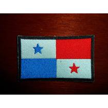 Parche Escudo Bordado Bandera De Panama