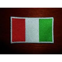 Escudo Parche Bordado Bandera Italia Italiana