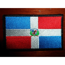 Escudo Parche Bordado Bandera Republica Dominicana