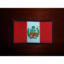 Parche Escudo Bordado Bandera De Peru Peruana