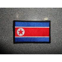 Bandera Bordada De Corea Del Norte Parche Escudo
