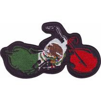Mexico Choper Motos Paquete De 6 Parches Bordados Banderas