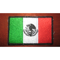 Parche Escudo Bordado Bandera Mexico