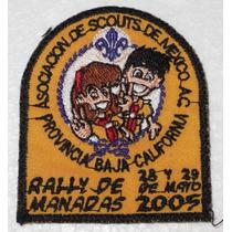 Parche/rodela Flor De Lis Boy Scouts De Mexico Bajacaliforni