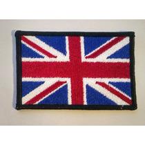 Bandera Del Reino Unido Bordada De 9x6 Cms