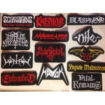Parches Metaleros Bordados. Rock, Metal