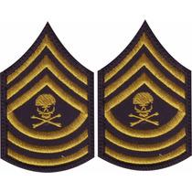 Insignia Militar Velcro Comandante Calavera Parche Bordado