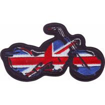 Inglaterra Choper Motos Parches Bordados Banderas Paises