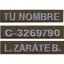 Identificador Personalizado Nombre Vg Velcro Parche Bordado
