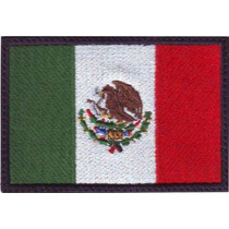 Bandera Mexico Parches Bordados Paises Gotcha Paintball