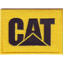 Cat Caterpillar Amarillo Autos Tractores Parche Bordado