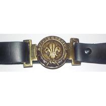 Hebilla Y Cinturon Flor De Lis Boy Scouts De Mexico