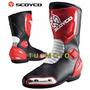 Bota De Motociclismo Scoyco 100% Piel E Impermeable Al Agua