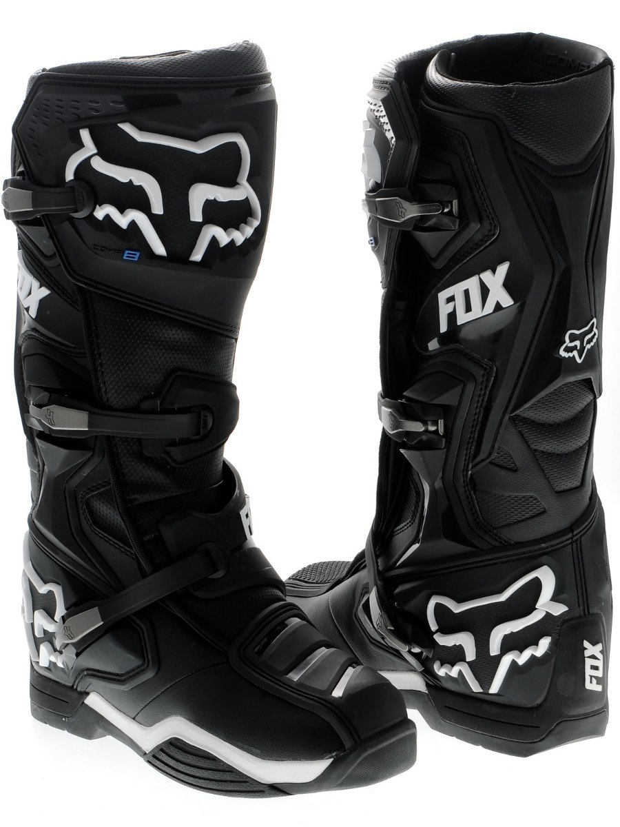 botas fox comp 8 negra mx 2016 motocross atv talla 7 5 en mercadolibre. Black Bedroom Furniture Sets. Home Design Ideas