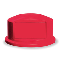 Tapa Para Bote De Basura Cúpula Rojo Polietileno Rubbermaid