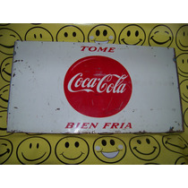 Coca Cola Anuncio Antiguo Lamina 48 X 26