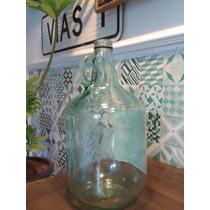 Botella De Vidrio Antigua Decoración / Terrario