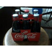 Coca Cola 100 Años Botella 6 Piezas Caja Sellada Y Nueva