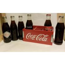 Botellas Cocacola Con Reja De Madera