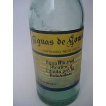 Botella Antigua Aguas De Lourdes Para Coleccion