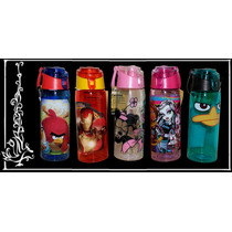 Botella Vaso, Angrybirds Ironman Minnie Monsterhigh Perry