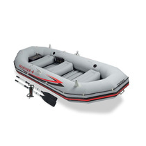 Lancha Inflable Intex Mariner 4 Personas Gris Pesca Mar Rios