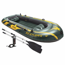Inflable Intex Seahawk 4, 4-person Inflatable Boat Set With