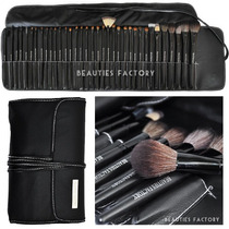 Set 35 Brochas Pelo Natural Cabra Premium Beauties Factory